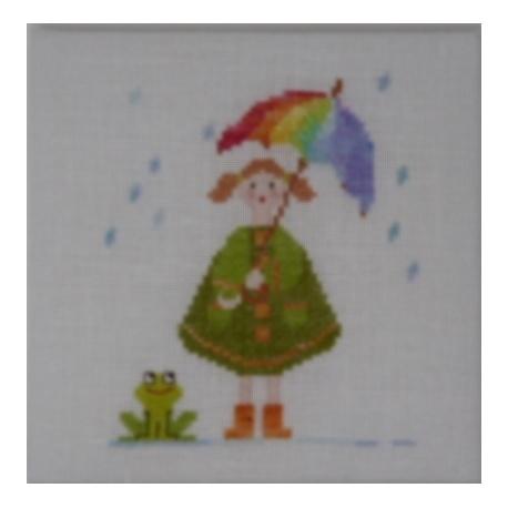 Zélie sous la pluie