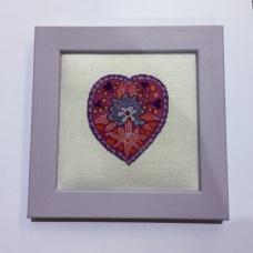 Coeur polychrome - en Février