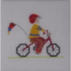 Augustin à vélo