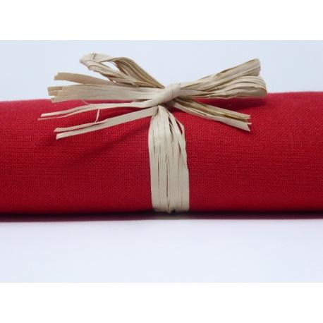 Tissu uni rouge: coupon 50 X 70 cm