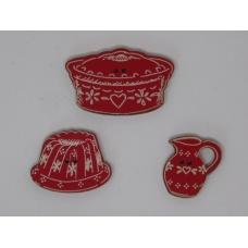 Poteries alsaciennes  en rouge (boutons)
