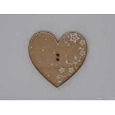 Coeur Eleonore érable motis blancs (bouton)