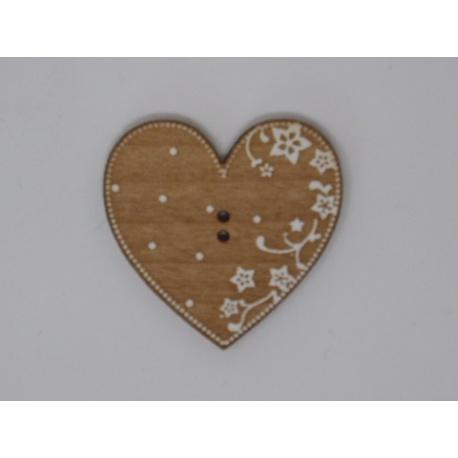 Coeur Eleonore aulne motis blancs (bouton)