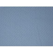 Tissu bleu/gris à petits points : coupon 50 X 75 cm