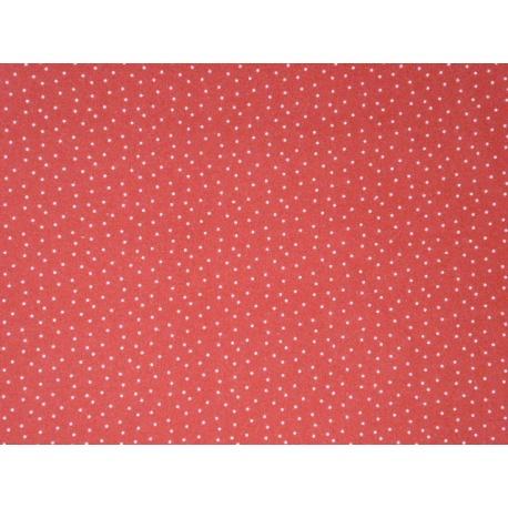 Tissu rouge à petits points : coupon 50 X 75 cm