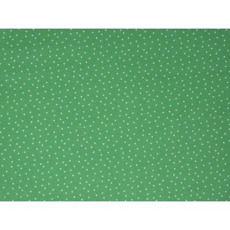 Tissu vert à petits points : coupon 50 X 75 cm