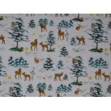 Tissu Forêt en hiver : coupon 50 X 75 cm