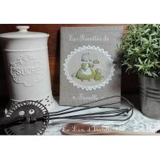 """Protège cahier de recettes """"petits chats"""""""