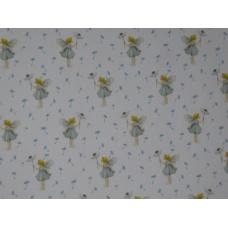 Tissu  Elfes & Pissenlits :  coupon 50 X 75 cm
