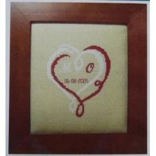 Coeur Mariage Bicolore