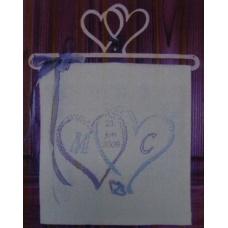 Coeurs Entrelacés Bleu-Lin