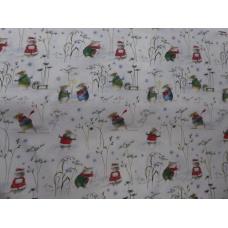 Tissu  Les souris d'Hiver:  coupon 50 X 75 cm