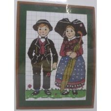 Petit Couple au parapluie