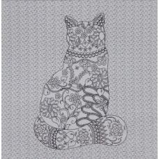 Le Chat : le coloriage qui se brode !