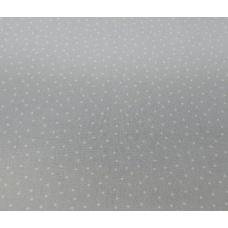 Tissu gris clair à petits points : coupon 50 X 75 cm