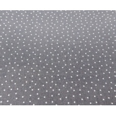 Tissu gris sombre à petits points : coupon 50 X 75 cm