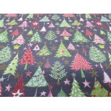 Tissu Sapins de Noël : coupon 50 X 75 cm