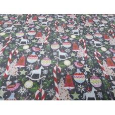 Tissu Jouets de Noël : coupon 50 X 75 cm