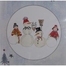 Enfants et Bonhommes de Neige  (fiche)