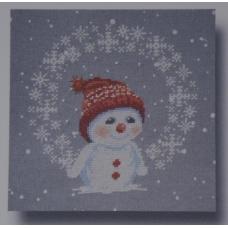 Les flocons de snowman
