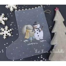 """Botte de Noël """"Lapin et bonhomme"""""""