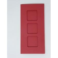 Carte 3 fenêtres - Rouge