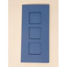 Carte 3 fenêtres - Bleu