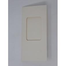 Carte à fenêtre rectangle - Ecru