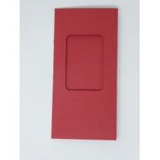 Carte à fenêtre rectangle - Rouge