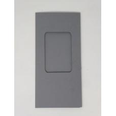 Carte à fenêtre rectangle - Gris