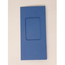 Carte à fenêtre rectangle - Bleu