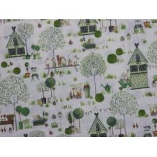 "Tissu ""Jardin de Printemps"" : coupon 50 X 75 cm"