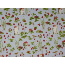 """Tissu """"Lutins des fraises"""" : coupon 50 X 75 cm"""