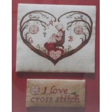 Cuori I love Cross Stitch