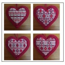 Coeurs Bijoux de Noël de 1 à 4