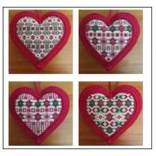 Coeurs Bijoux de Noël de 5 à 8