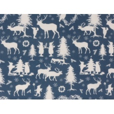 "Tissu ""Forêt des lutins - bleu"""