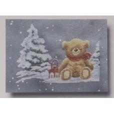 Teddy en hiver