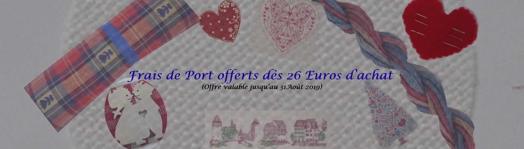 frais port offert dès 26 Euros d'achat - Eté 2019