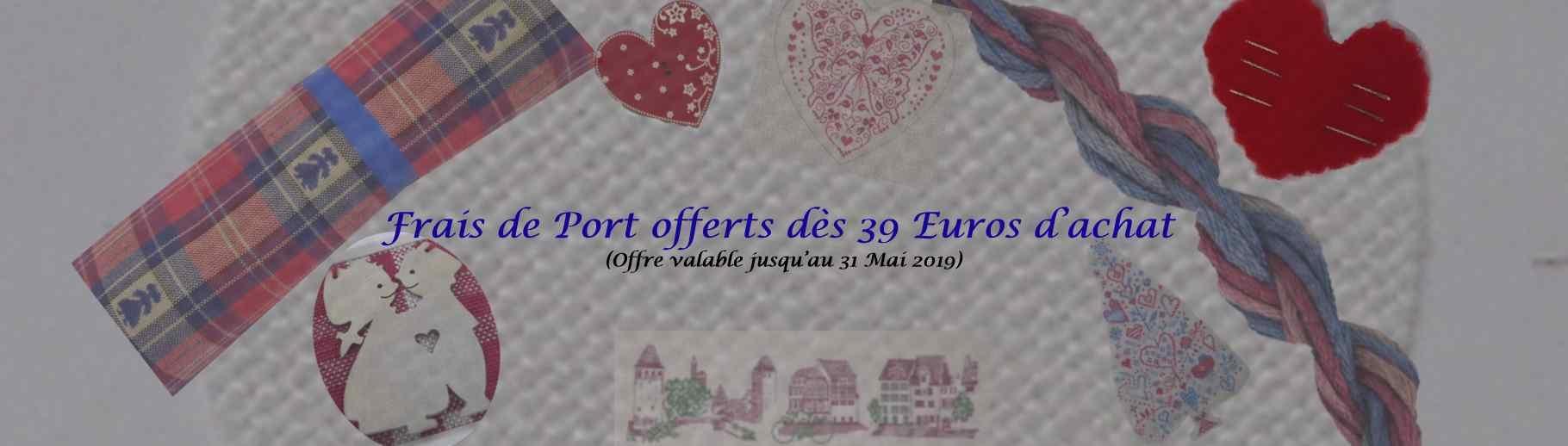 Frais port offerts dès 39 Euros d'achat